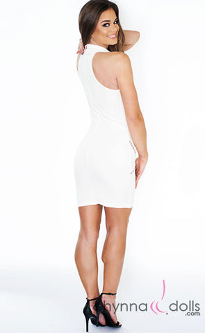Aria: Mini Dress with Keyhole Detail