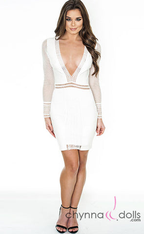 Keira: Bodycon Long-Sleeved Minidress