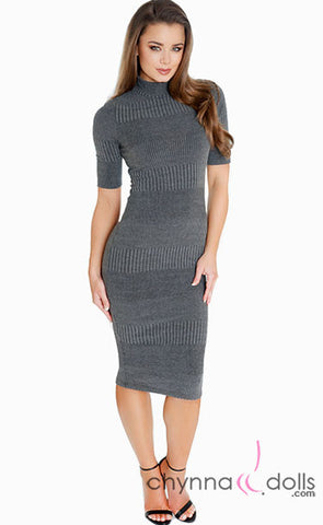 Ally: Turtleneck Bodycon Dress