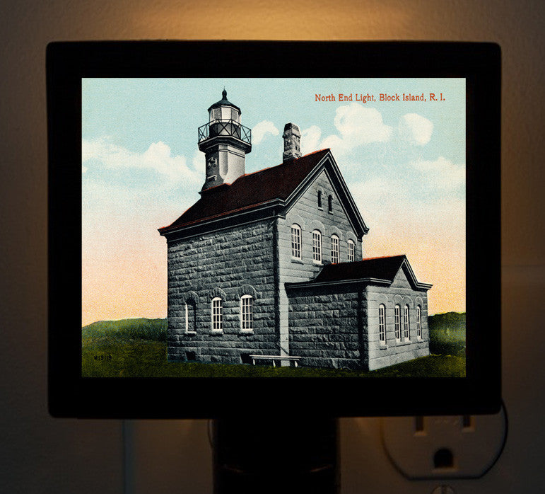 Block Island, North End Light Night Light - That Fabled Shore Home Decor