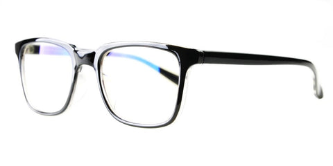 Blue Light Blocking Glasses, Reduce Eye Strain, Black Style 701, from EYES PC