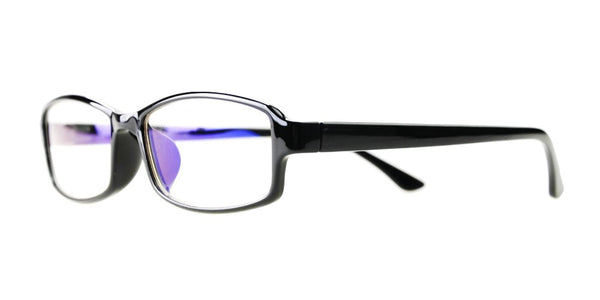 Blue Light Blocking Glasses, Reduce Eye Strain, Black Style 705, from EYES PC