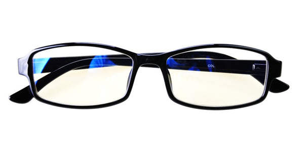 Blue Light Blocking Glasses, Help Prevent Macular Degeneration, Black Style 705, From EYES PC