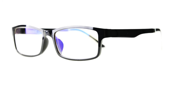 Blue Light Blocking Glasses, Reduce Eye Strain, Black Style 708, Adjustable Ear Piece, from EYES PC