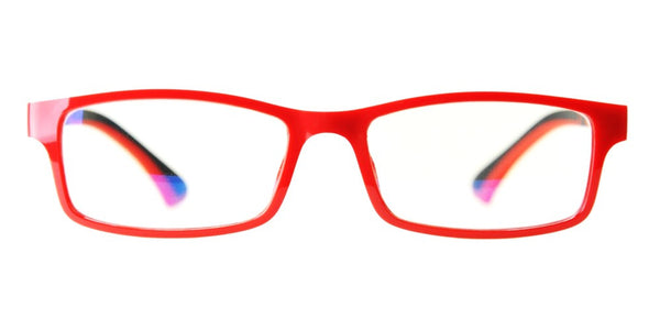 Blue Light Blocking Glasses, Improve Circadian Rhythm, Red Style 708, Adjustable Ear Piece, From EYES PC