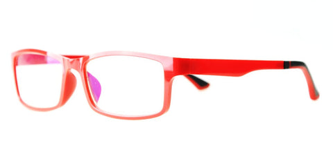 Blue Light Blocking Glasses, Reduce Eye Strain, Red Style 708, Adjustable Ear Piece, from EYES PC