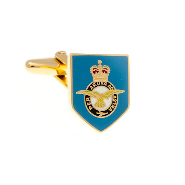 Royal Blue Air Force Styled Enamel Cufflinks by Elizabeth Parker England
