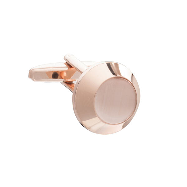 Rose Gold Beacon Styled Cufflinks by Elizabeth Parker