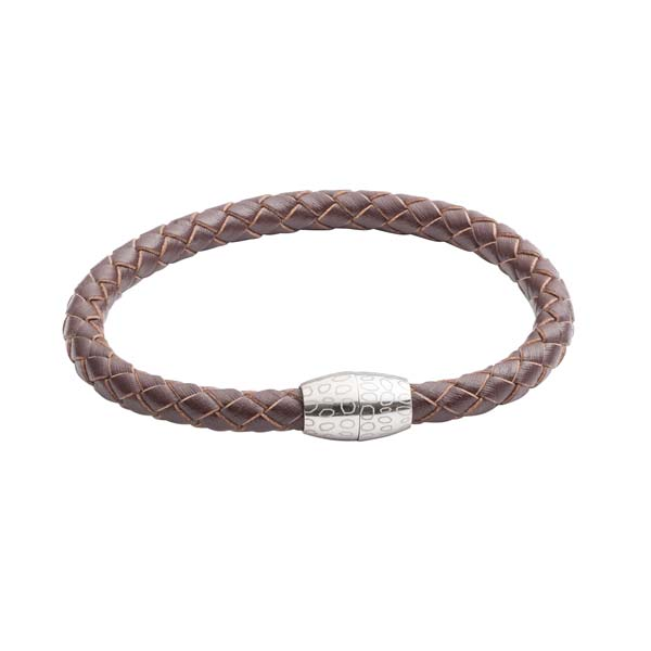 Brown Leather Kitoko Bracelet by Elizabeth Parker