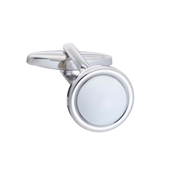 Spot It White Enamel Cufflinks