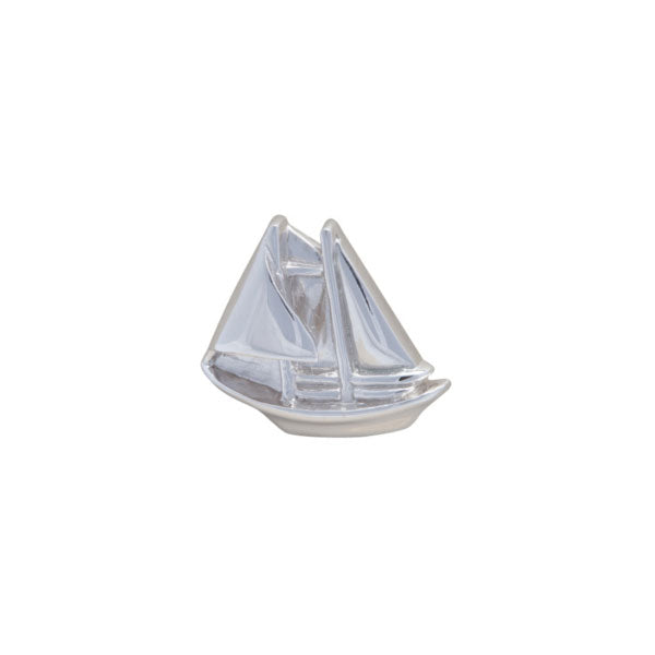 Simply Metal Ship Shaped Lapel Pin by Elizabeth Parker