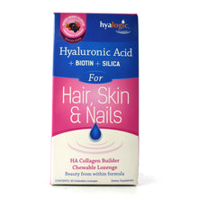Load image into Gallery viewer, Hyaluronic Acid plus Biotin plus Silica for Hair, Skin & Nails Wild Berry Flavor - 30 Lozenges