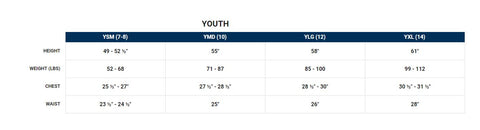 southern shirt youth size chart