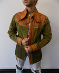Char Green Suede Jacket