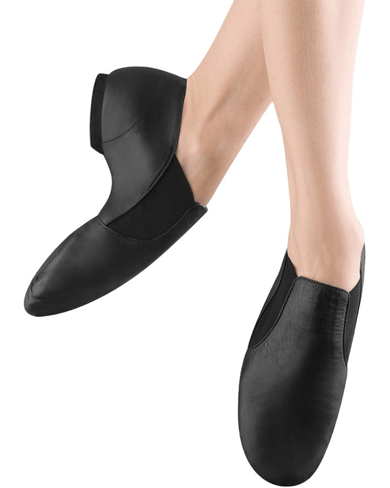 Bloch Elasta Bootie Slip On Leather Jazz Shoes - S0499G Girls/Boys