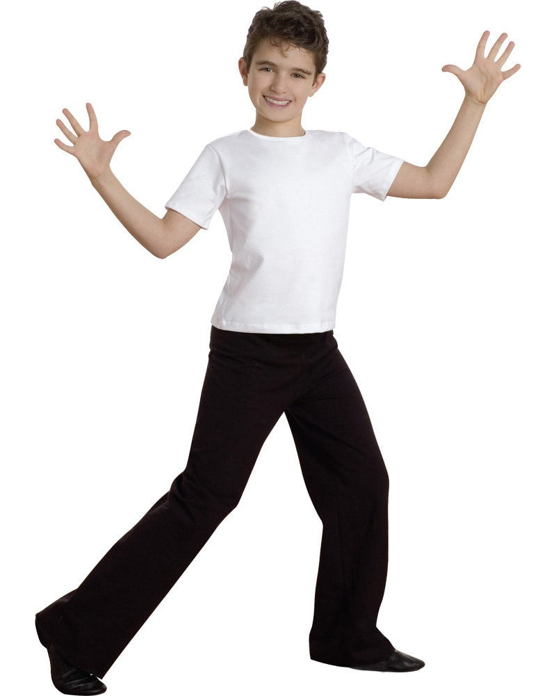 Body Wrappers B191 - Straight Leg Stretch Cotton Jazz Dance Pants Boys