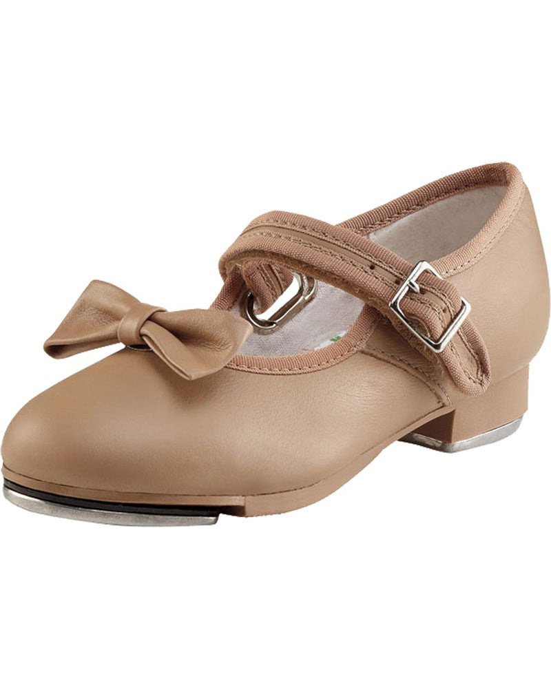 Capezio Mary Jane Leather Buckle Strap Tap Shoes - 3800C Girls
