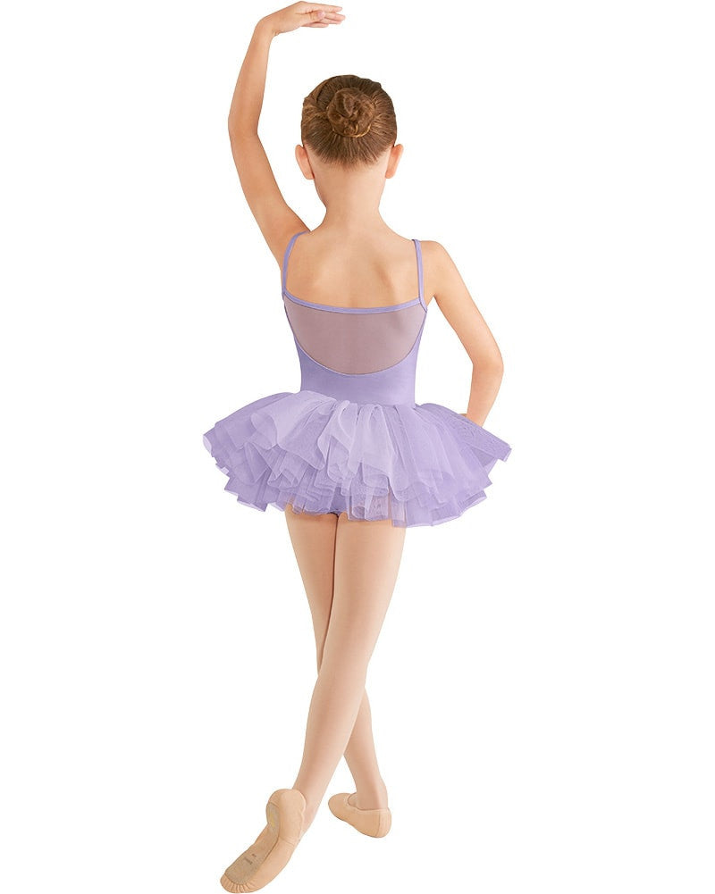 Mirella M409C - Mesh Back Yoke Camisole Tutu Ballet Dress Girls