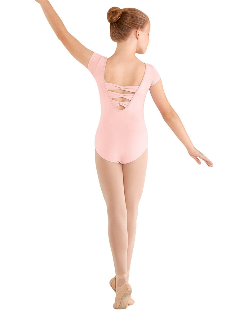 Mirella M414C - Three Bow Back Cap Sleeve Leotard Girls