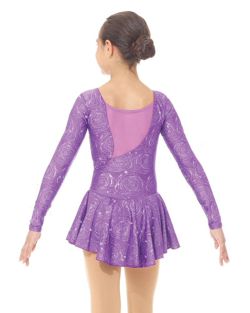 Mondor Born To Skate Mesh Back Glitter Nylon Skating Dress - 666C Girls - Print
