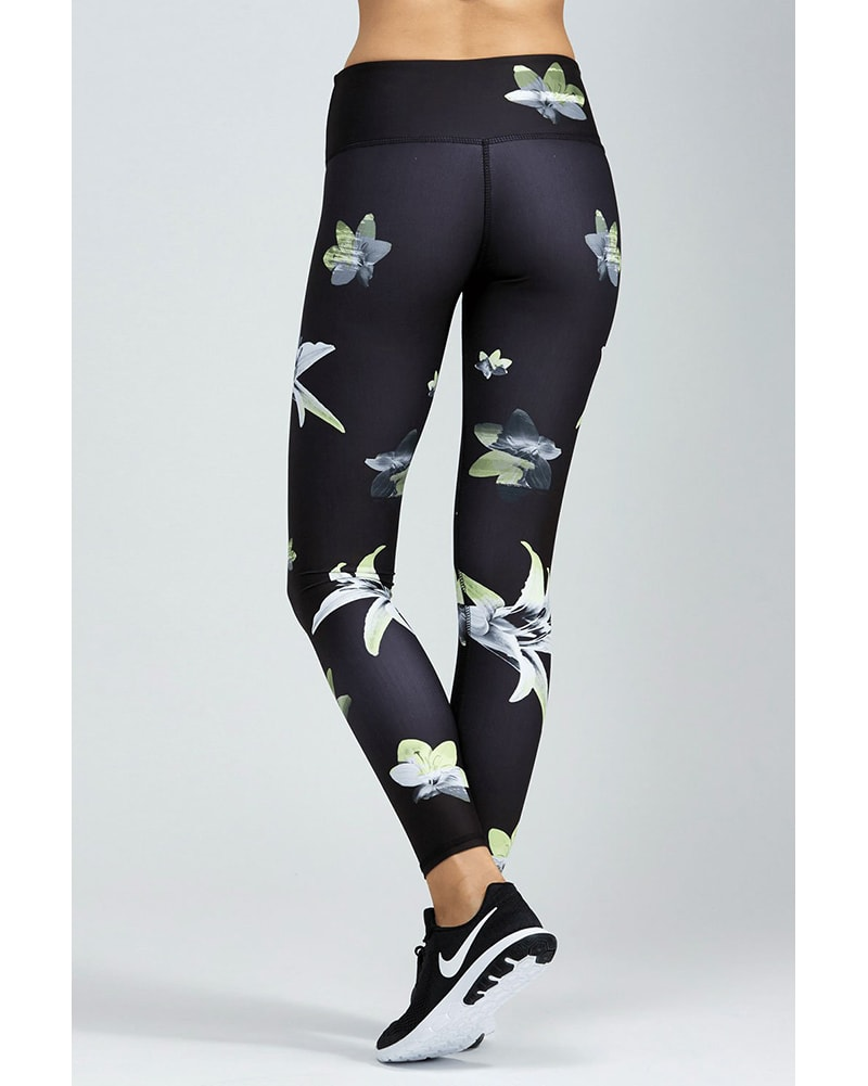 Noli Full Length Legging Black - Womens - Lilly Print