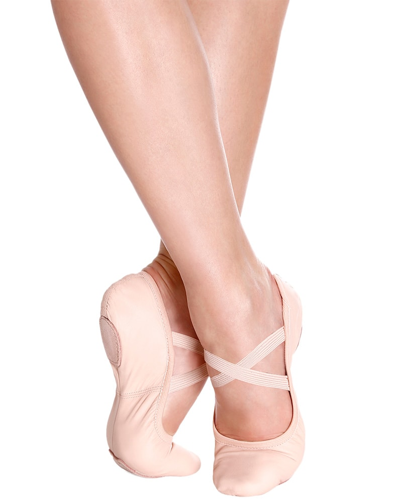So Danca Brit Professional No Drawstring Leather Split Sole Ballet Slippers - SD60 Womens