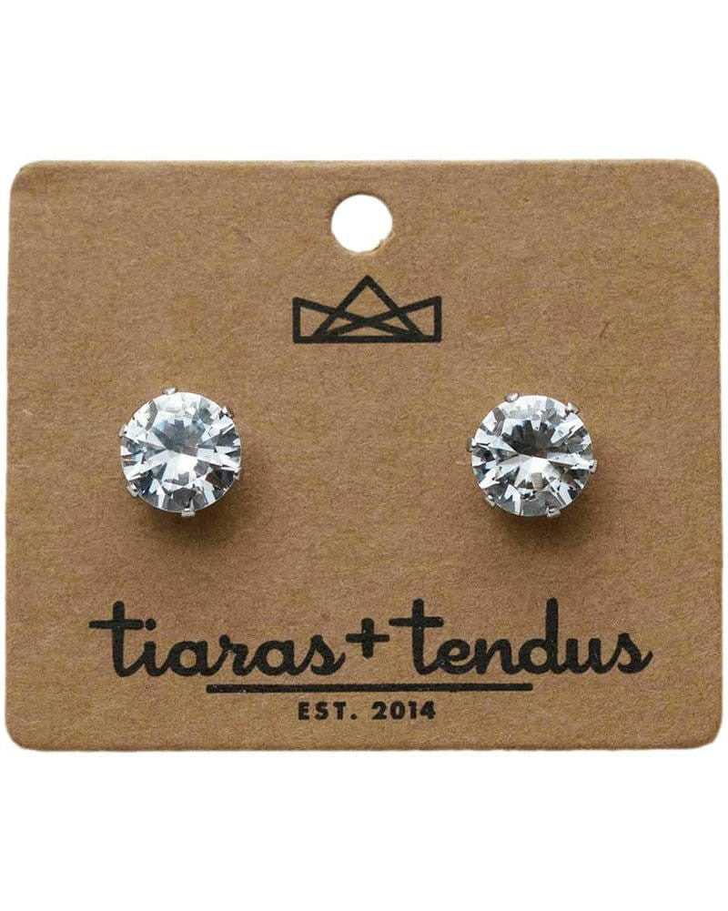Tiaras + Tendus 10mm Dance Competition Clip-On Rhinestone Earrings