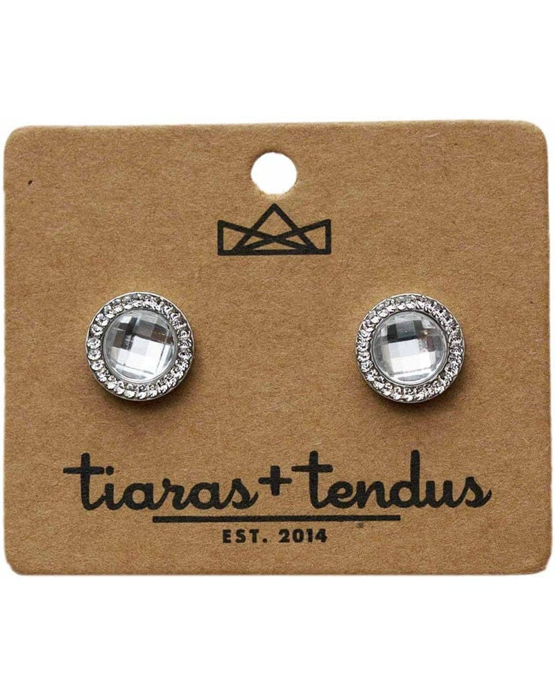Tiaras + Tendus 12mm Dance Competition Round Stud Rhinestone Earrings