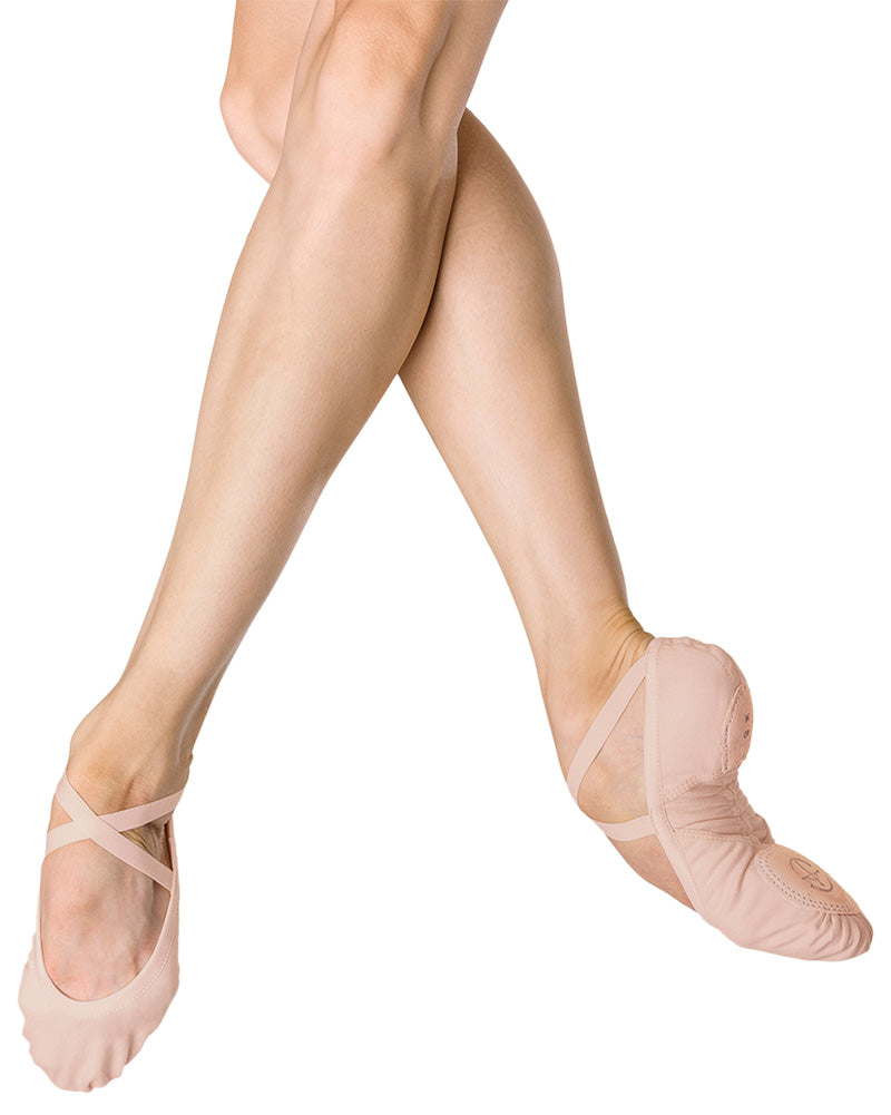 Wear Moi Vesta Premium Stretch Canvas Arch Support Split Sole Ballet Slippers - Womens