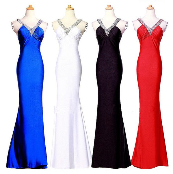 "Elegant Series Deep V-Neck ""Splice Back"" Cocktail / Prom Dress"