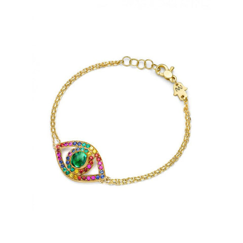Big Ombre Rainbow Eye Bracelet