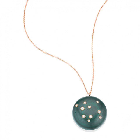 Green Onyx Constellation of Life Necklace