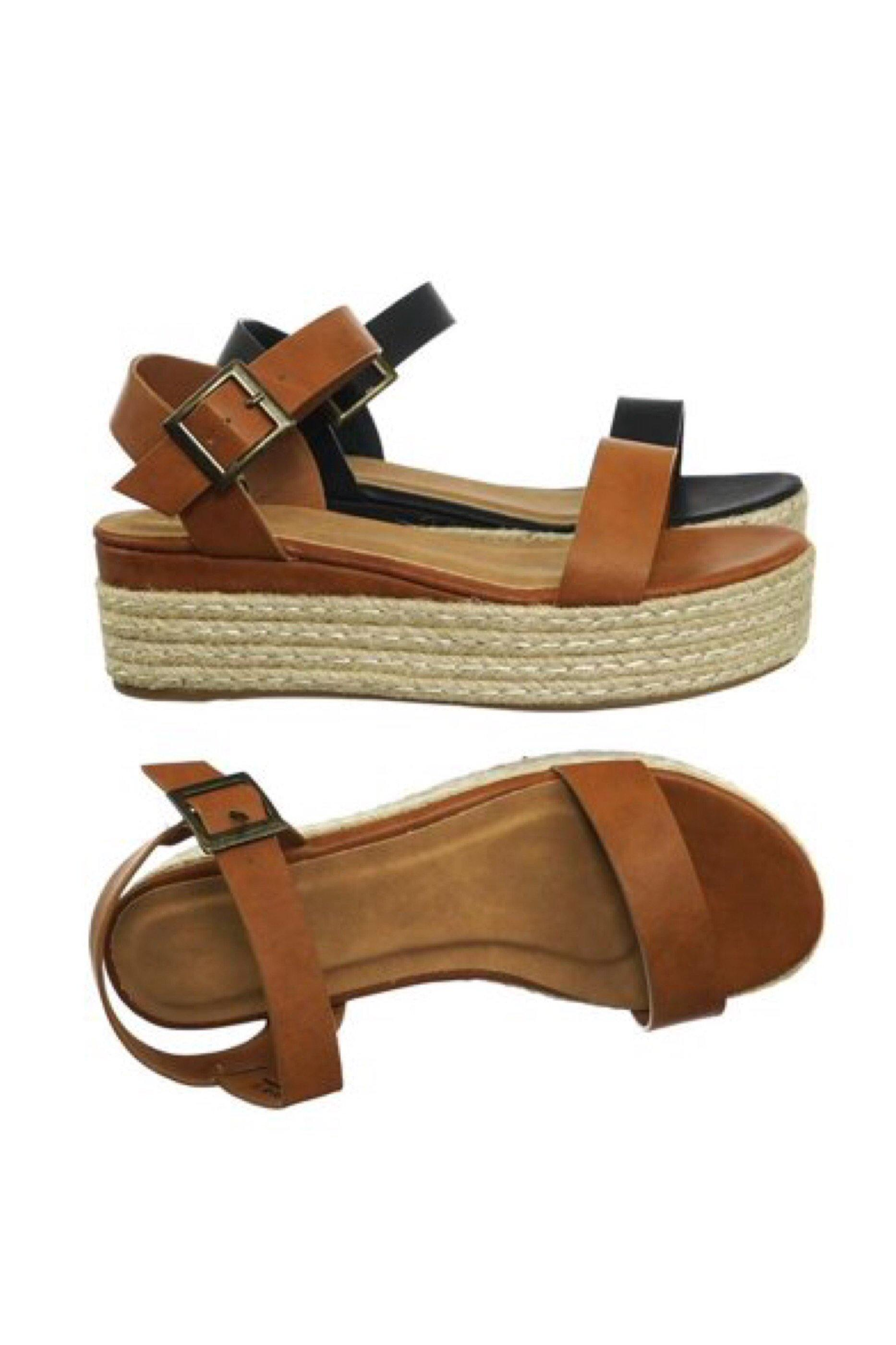 Ankle Strap Espadrille infinity Tan Sandals