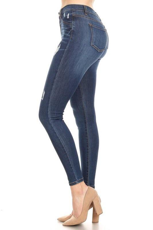 Samanta high rise classic destroy skinny jeans