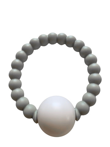 Teether Toy Rattle- Grey
