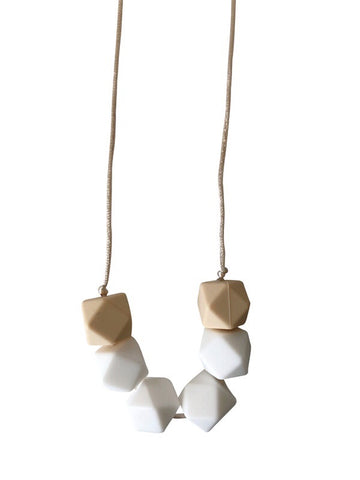 The Jameson- White Teething Necklace
