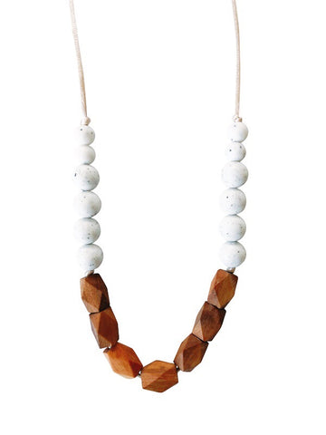 The Harrison Teething Necklace- Moonstone