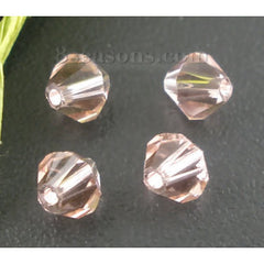 Bicone Beads - Crystal Glass 4mm