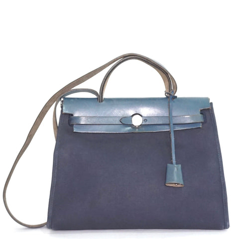 Hermes Herbag 31 2 in 1 Navy Vibrato