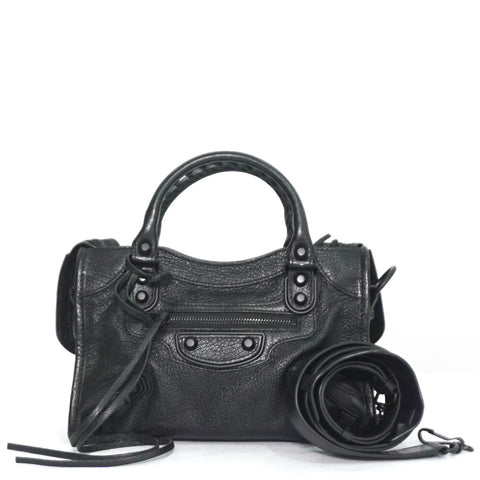 Balenciaga Black Mini City