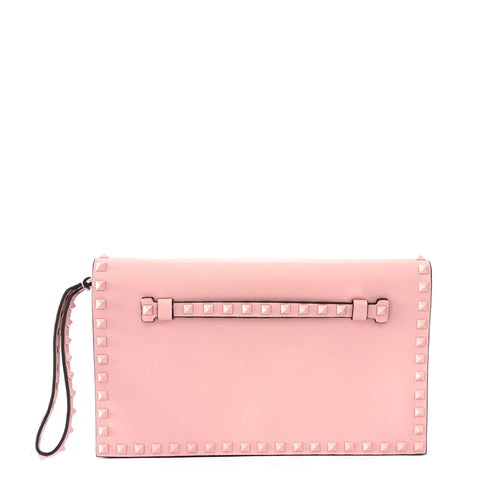 Valentino Pink Studded Clutch