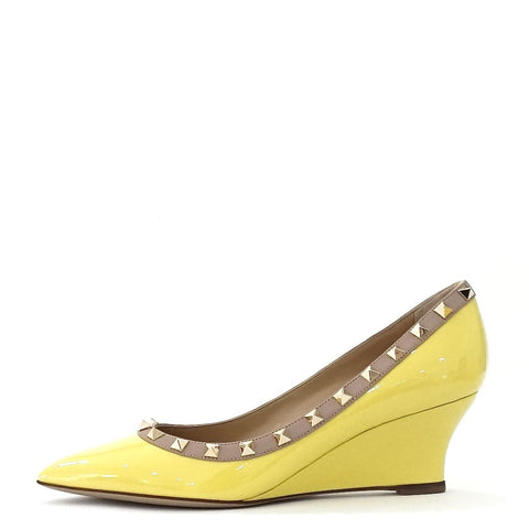 Brand New Valentino Rockstud Wedge Pumps 38