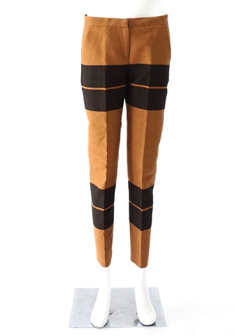ALC Brown Bold Striped Pants 0