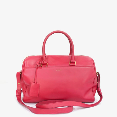 Saint Laurent Pink Classic Duffle Two Way Bag