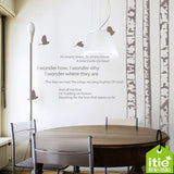 White Birch Forest Wall Decal - WallDecal