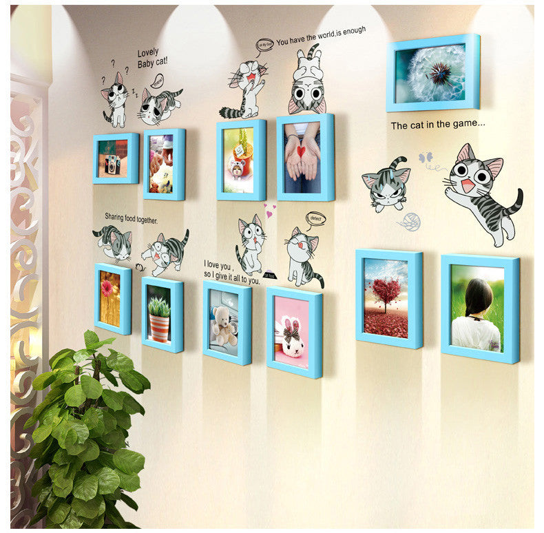 Cat Decal and photo frames
