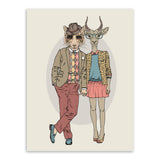 Fashion Animal Deer Giraffe Wedding Decoration A4 Large Art Print Poster Couple Wall Picture Canvas Painting No Frame Home Decor