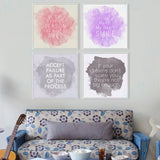 Watercolor Minimalist Motivational Typography Quotes A4 Large Art Print Poster Wall Picture Canvas Painting Girl Room Home Decor