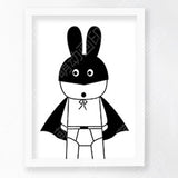 wall poster wall art Canvas The Batman rabbit  Art Print Poster Wall Pictures for Home Decoration picture Frame not include v5