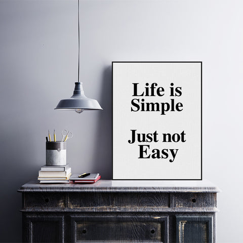 Minimalist Motivational Typography Life Quotes A4 Art Print Poster Wall Picture Living Room Canvas Painting No Frame Home Decor